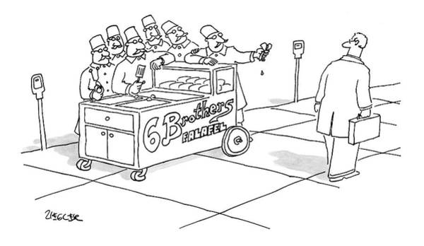 Vendor Drawing - New Yorker March 12th, 2007 by Jack Ziegler