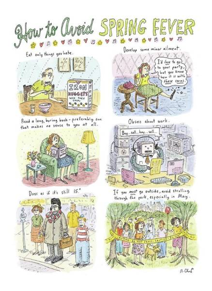 Developed Wall Art - Drawing - How To Avoid Spring Fever by Roz Chast