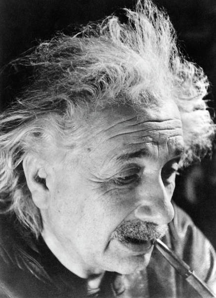 Special Effects Photograph - Albert Einstein by Emilio Segre Visual Archives/american Institute Of Physics