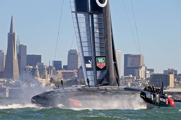Ellison Bay Wall Art - Photograph - America's Cup Oracle by Steven Lapkin