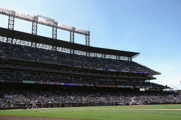 Major League Baseball Photograph - Arizona Diamondbacks V Colorado Rockies by Doug Pensinger