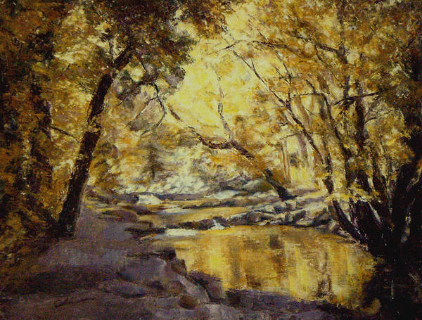11x14 Painting - Autumn Is Gold by Chisho Maas