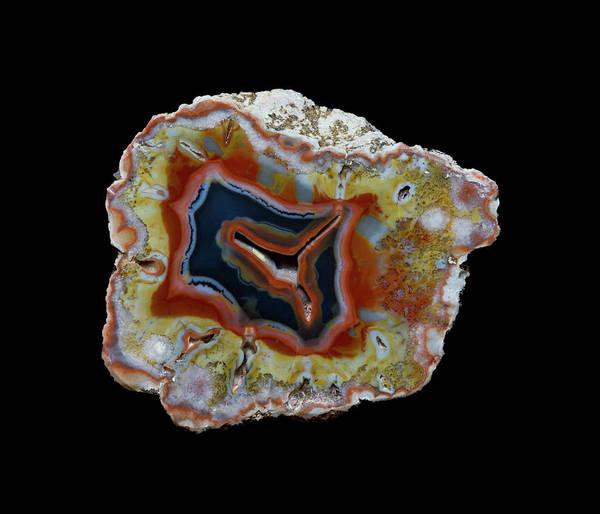 Wall Art - Photograph - Banded Agate, Quartzsite, Az by Darrell Gulin