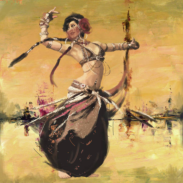 Corporate Art Task Force Wall Art - Painting - Abstract Belly Dancer 14 by Corporate Art Task Force