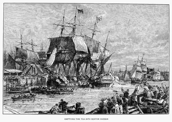 Photograph - Boston Tea Party, 1773 by Granger