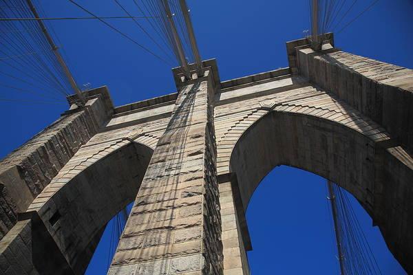 Photograph - Brooklyn Bridge - New York City1 City by Frank Romeo