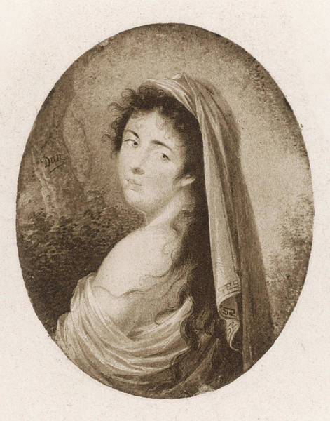 Wall Art - Drawing - Emma, Lady Hamilton  Wife Of Lord by Mary Evans Picture Library