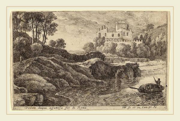 Aqua Drawing - Herman Van Swanevelt Dutch by Litz Collection
