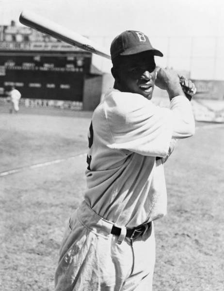 Wall Art - Photograph - Jackie Robinson (1919-1972) by Granger
