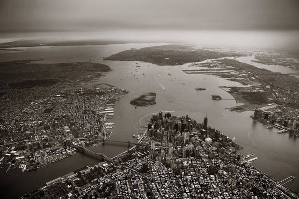 Photograph - Manhattan Aerial by Songquan Deng