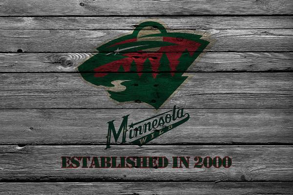 Hockey Sticks Wall Art - Photograph - Minnesota Wild by Joe Hamilton