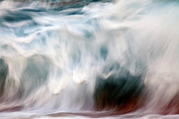 Wall Art - Photograph - Ocean Wave Blurred By Motion  Hawaii by Vince Cavataio