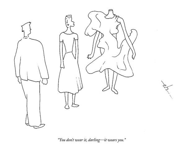 Vanity Drawing - You Don't Wear by Erik Hilgerdt