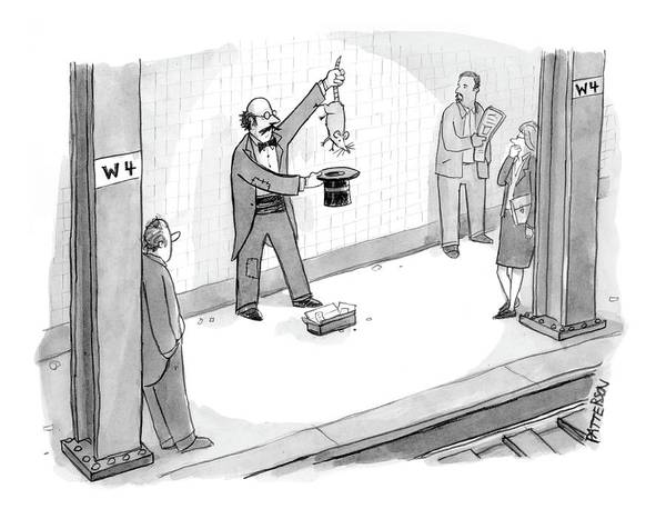 Magician Drawing - New Yorker July 3rd, 2006 by Jason Patterson