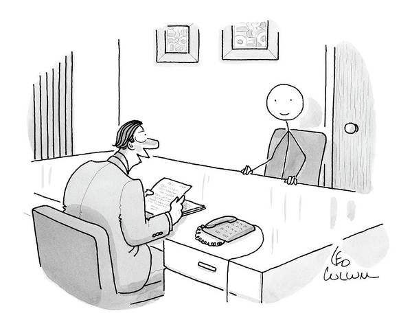 Employer Drawing - New Yorker May 19th, 2008 by Leo Cullum