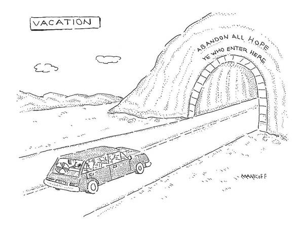 Auto Drawing - New Yorker April 18th, 2005 by Robert Mankoff