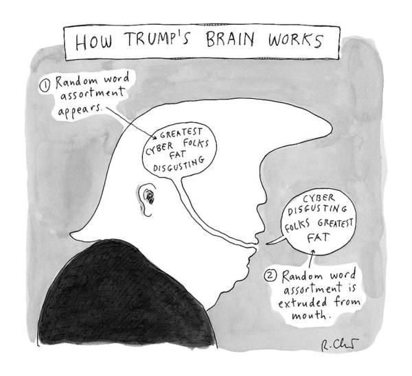 Presidential Drawing - New Yorker October 31st, 2016 by Roz Chast