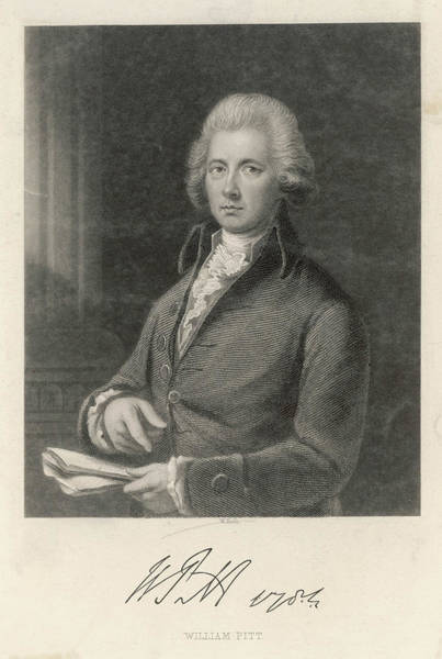 Wall Art - Drawing - William Pitt The Younger  English by Mary Evans Picture Library