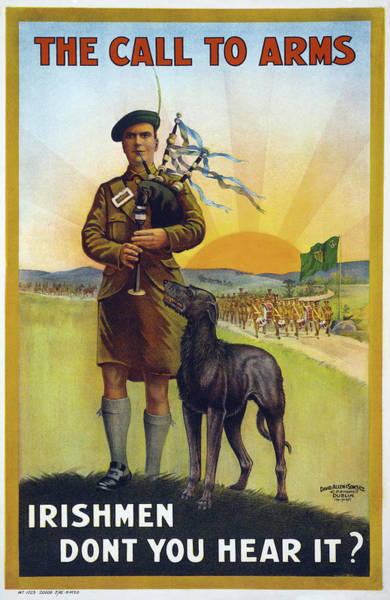 Bagpipe Wall Art - Drawing - Wwi Poster, 1915 by Granger