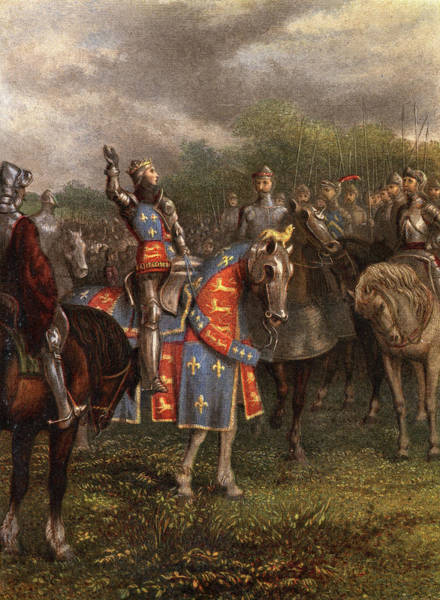 Excitement Painting - 1400s Henry V Of England Speaking by Vintage Images