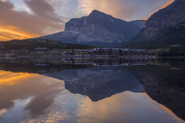 Photograph - 140917a-031 Many Glacier Lodge by Albert Seger