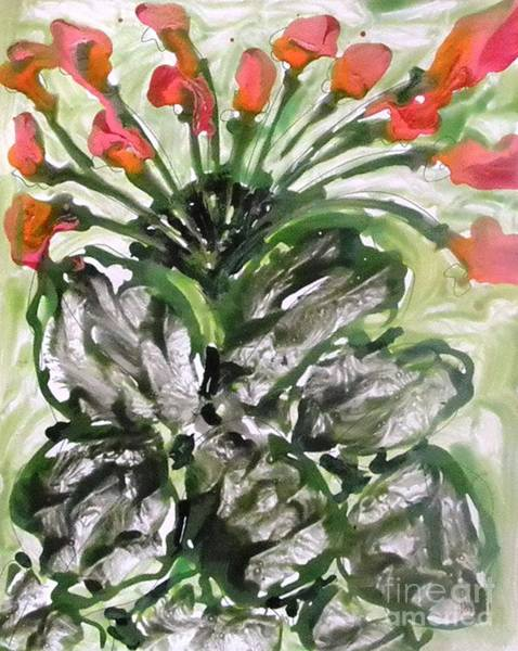 Wall Art - Painting - Zenmoksha Flowers by Baljit Chadha