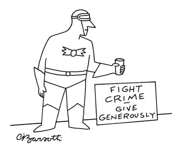Superhero Drawing - New Yorker November 15th, 2004 by Charles Barsotti