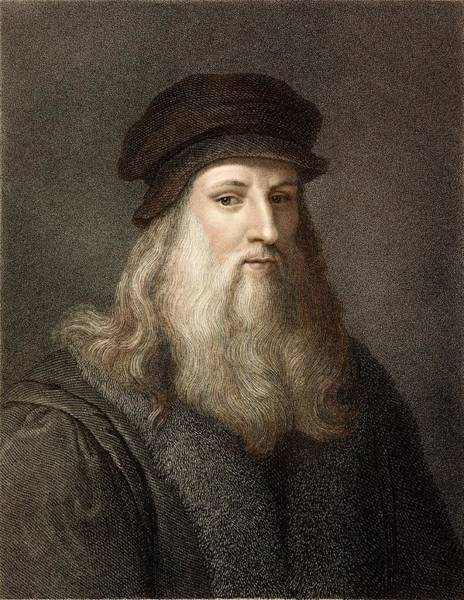Wall Art - Photograph - 1490 Leonardo Da Vinci Colour Portrait by Paul D Stewart