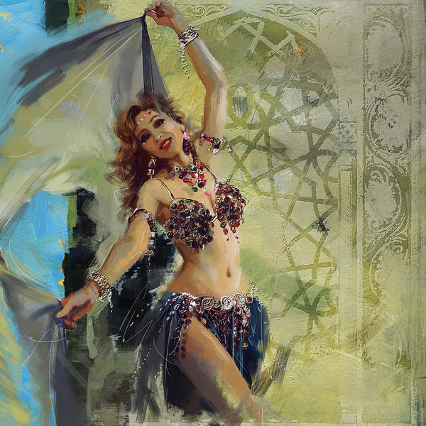 Corporate Art Task Force Wall Art - Painting - Abstract Belly Dancer 13 by Corporate Art Task Force