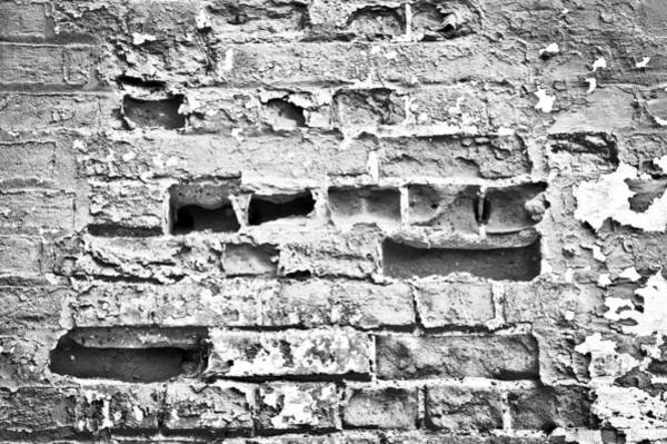 Missing Wall Art - Photograph - Brick Wall by Tom Gowanlock