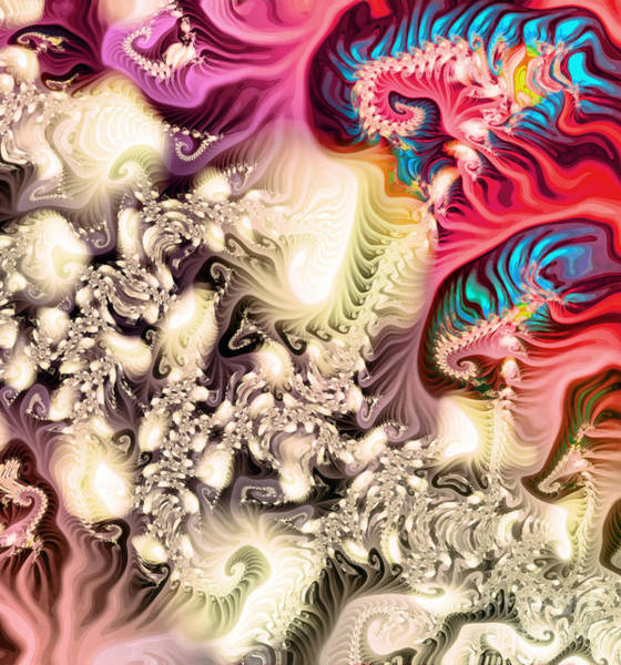 Painting - Colorful Fractal Paint by Odon Czintos