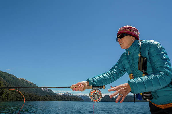 Clear Coat Wall Art - Photograph - Fly Fishing Patagonia, Argentina by Mark Lance
