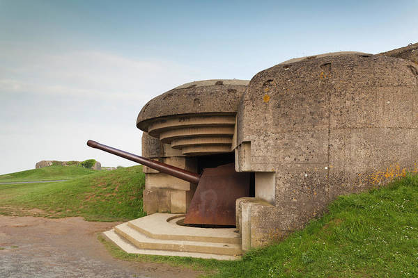 Battery D Wall Art - Photograph - France, Normandy, D-day Beaches Area by Walter Bibikow