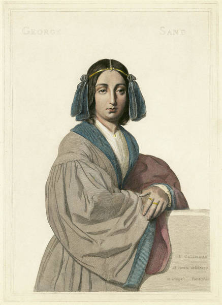 Painting - George Sand (1804-1876) by Granger