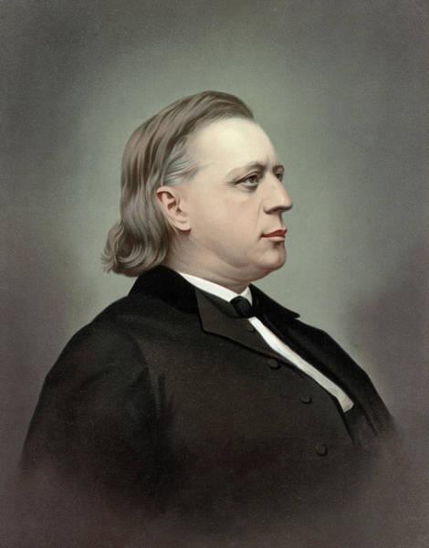 Wall Art - Painting - Henry Ward Beecher (1813-1887) by Granger