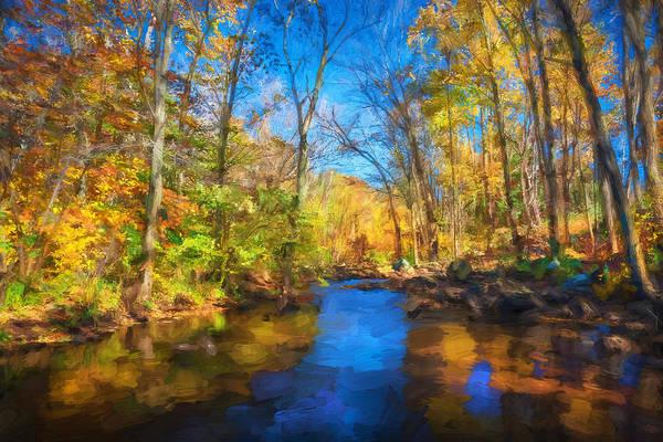 Photograph - Lake Ames Rockaway Township Nj Painted  by Rich Franco