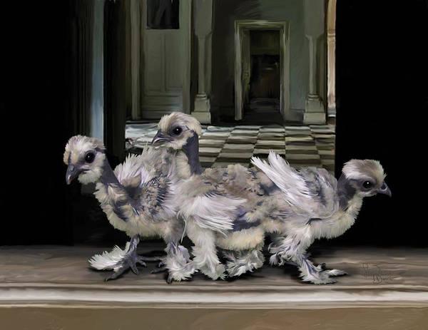 Digital Art - 15. Lizard Chicks by Sigrid Van Dort