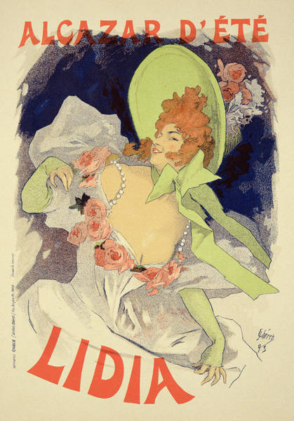 Summer Drawing - Reproduction Of A Poster Advertising by Jules Cheret