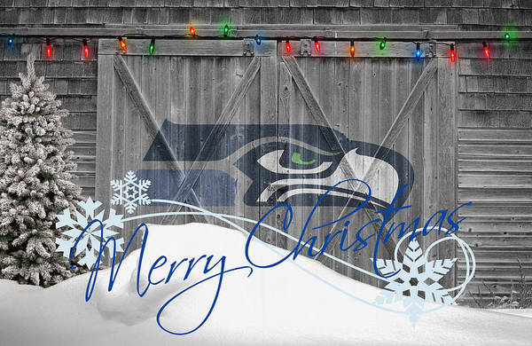 Santa Photograph - Seattle Seahawks by Joe Hamilton
