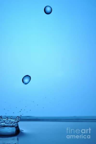 Wall Art - Photograph - Splashing Water Droplet by Sami Sarkis