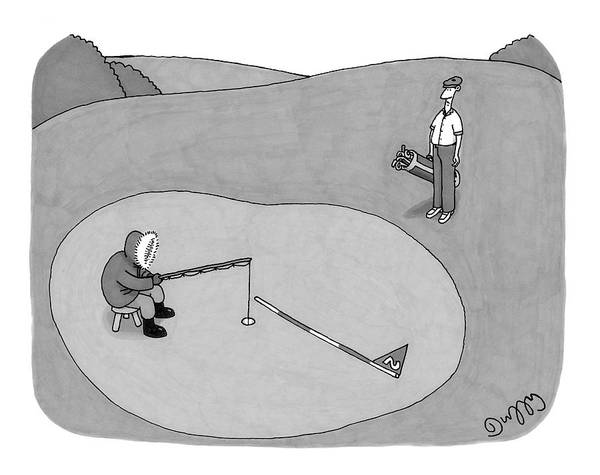 Golf Drawing - New Yorker July 3rd, 2006 by J.C.  Duffy