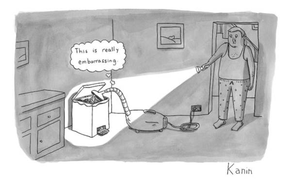 Trash Drawing - New Yorker April 13th, 2009 by Zachary Kanin
