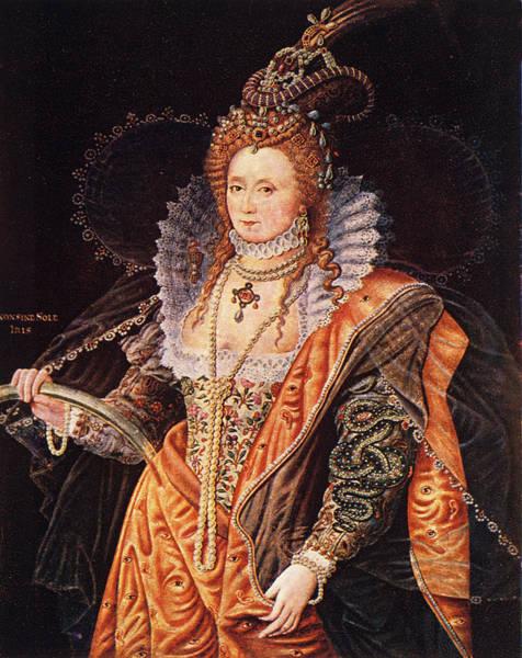 Circa Painting - 1500s 1600s Color Portrait Queen by Vintage Images