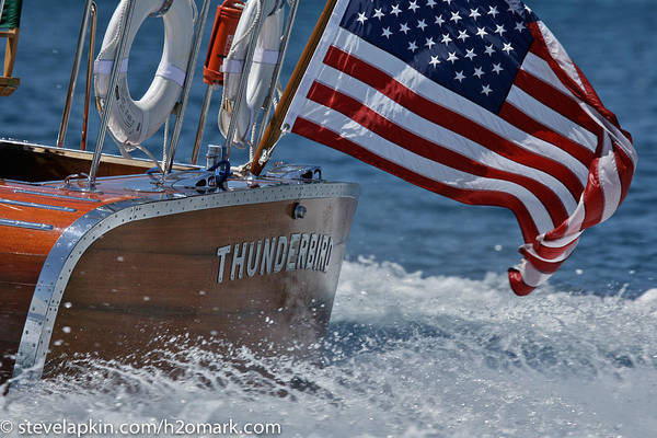 Outboard Engine Photograph - Thunderbird by Steven Lapkin