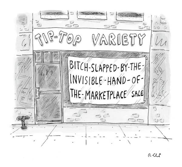 Sales Drawing - New Yorker March 13th, 2006 by Roz Chast