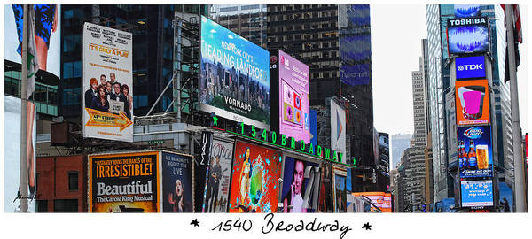 Photograph - 1540 Broadway by Paulette B Wright