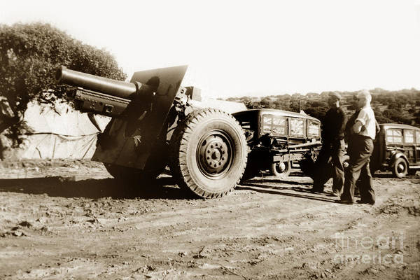 Photograph - 155mm Field Artillery Camp Ord Army Base California Circa 1940 by California Views Archives Mr Pat Hathaway Archives
