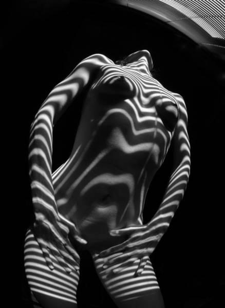 Photograph - 1573 Zebra Woman Stripe Series   by Chris Maher