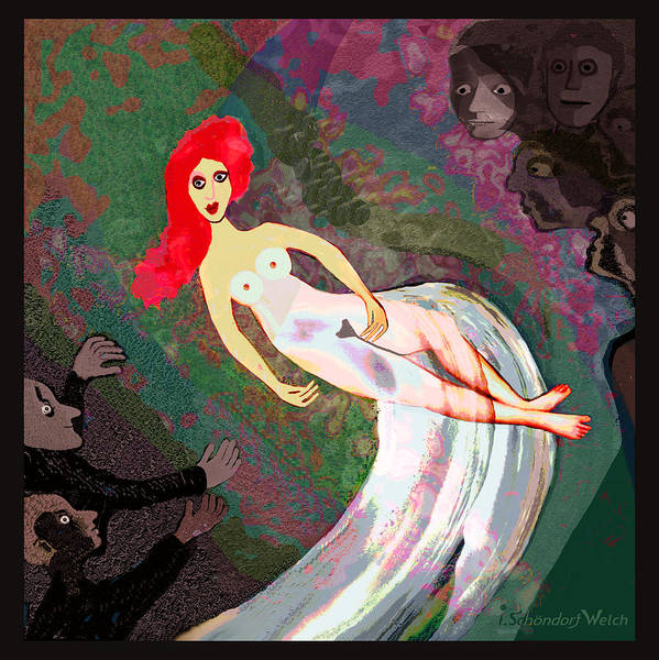 Spin Painting - 159 -    Lady Exhibitionist .... by Irmgard Schoendorf Welch