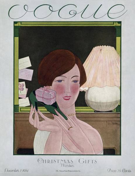 Wealth Photograph - A Vintage Vogue Magazine Cover Of A Woman by Georges Lepape